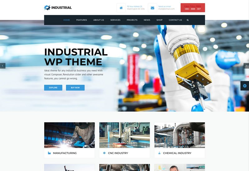 factory web design demo